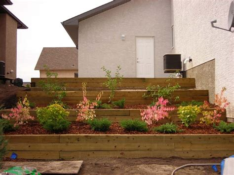 Landscape Timber Wall Design Here Build Wooden Retaining Wall Wood Design And Project