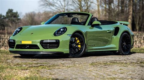 green porsche sight to behold olive green porsche 991 turbo s cab mk ii