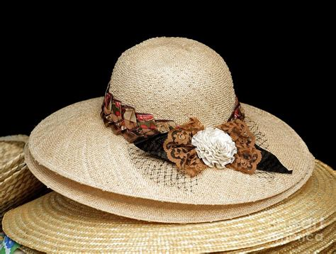 Handmade Hats For Sale - straw hats for sale photograph by yali shi