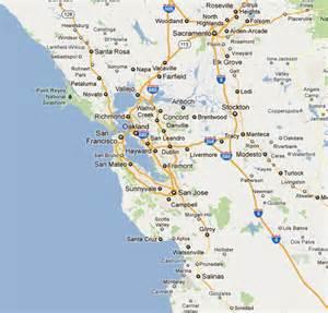 bay area map california california map monterey bay