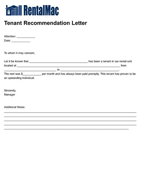 rental reference template best photos of personal reference letter for tenant