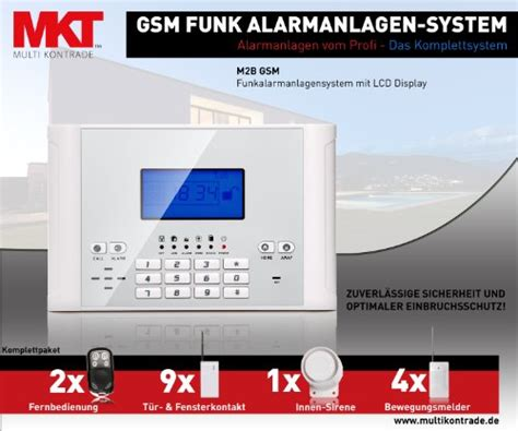 funk alarmanlage test test funk alarmanlage multi kon trade m2b gsm set 4