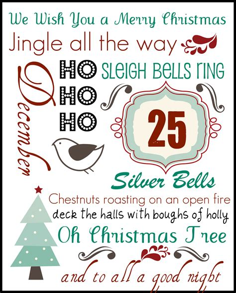 free printable christmas subway art