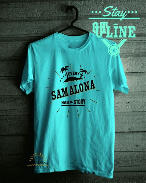 Kaos Tshirt Diving 2 samalona has a story outline t shirt