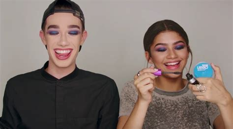 james charles and zendaya covergirl james charles and zendaya are too cute for words in this