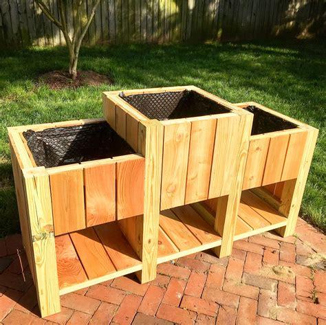 outstanding diy planter box plans designs  ideas