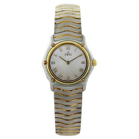 ebel two tone wave of pearl
