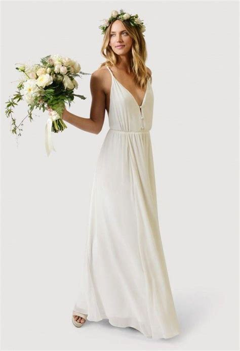 casual wedding dresses for minimalist modwedding