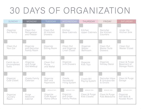 30 Days Of 30 days of organization challenge declutter your home