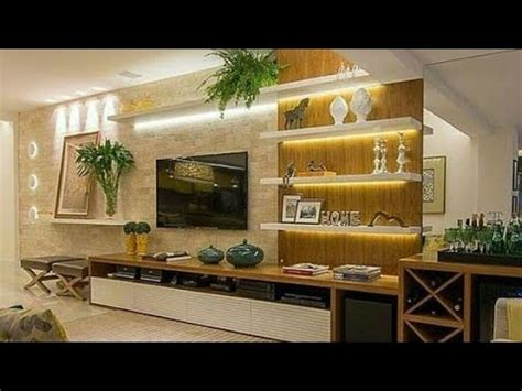 modern tv wall design living room wall decoration ideas  youtube