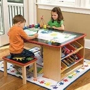 art and craft desk with storage activity for kids with storage foter
