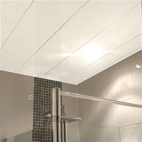 White Ceiling Panels by Labo Ultra White Gloss Ceiling Panels From The Bathroom