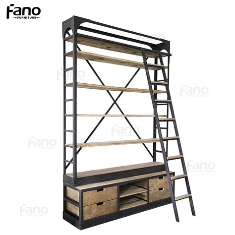 Bookcase Display by Mobili 225 Rio Antigo Estante De Metal De Ferro Industrial Do