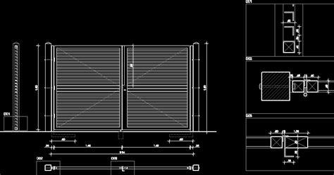 gate entry dwg block  autocad designs cad