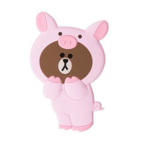 Line Friends Brown line friends piggy brown silicon mirror