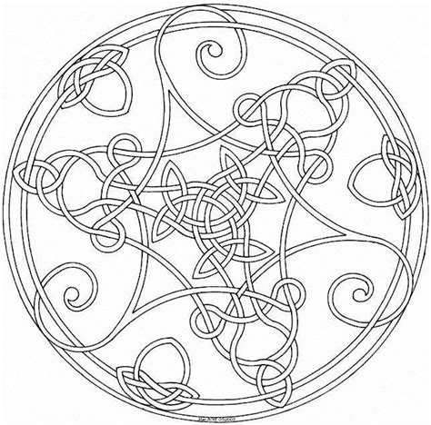 celtic mandala coloring pages free therapie on anti stress livres and