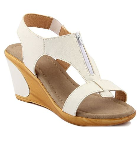 wellworth white wedge heel sandals price in india buy