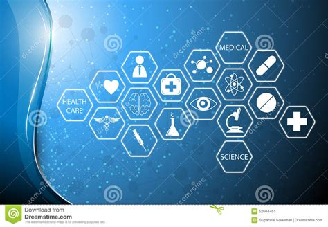 A Frame Plans Free by Icon Medical Technology Innovation Concept Background