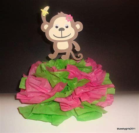 mod monkey centerpiece decoration monkey baby shower mod