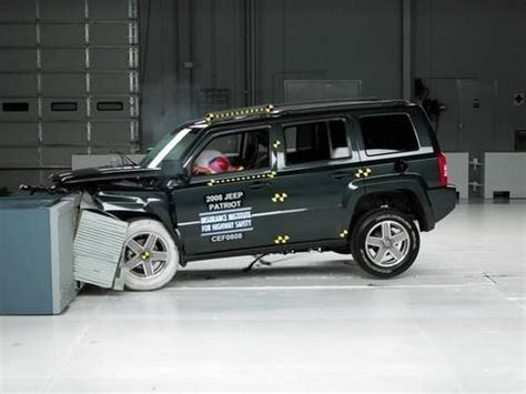 Jeep Patriot Crash Test 2008 Jeep Patriot Moderate Overlap Iihs Crash Test