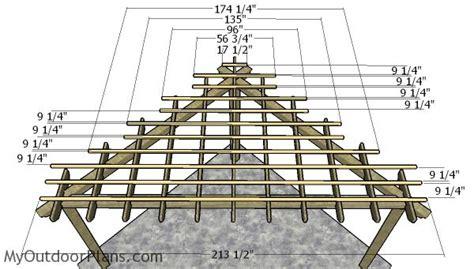 corner pergola plans myoutdoorplans woodworking