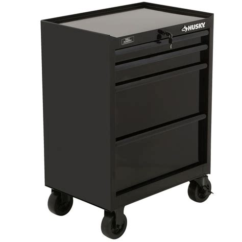 husky 4 drawer tool cabinet husky 27 in 4 drawer all tool cabinet black h4tr2r the