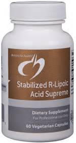 lipoic acid supreme stabilized r lipoic acid supreme 60 vegetarian capsules
