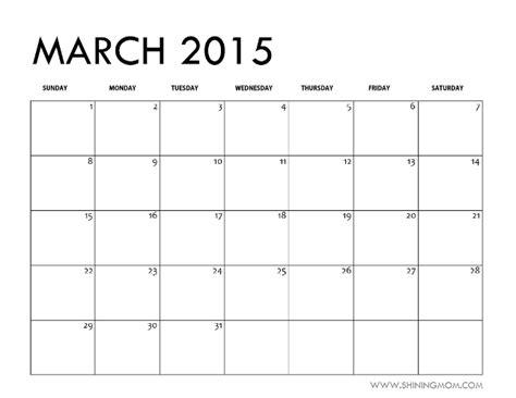 Blank April Calendar 2015 March 2015 Calendars