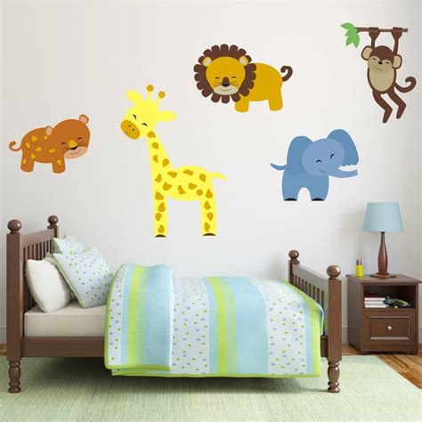 animal wall stickers safari animal wall stickers by mirrorin
