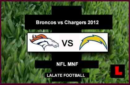 broncos chargers 2012 broncos vs chargers 2012 peyton manning returns to monday