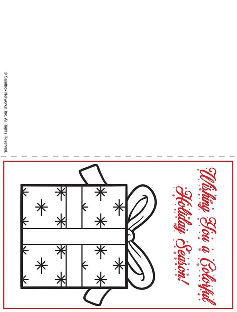 printable christmas cards that you can color printable holiday card kids can color familyeducation