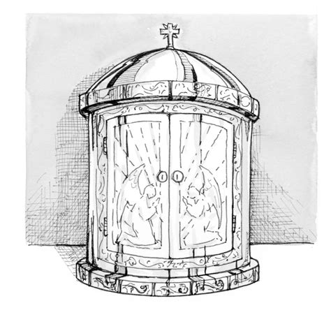Free Coloring Pages Of Tabernacle Furniture Tabernacle Coloring Page