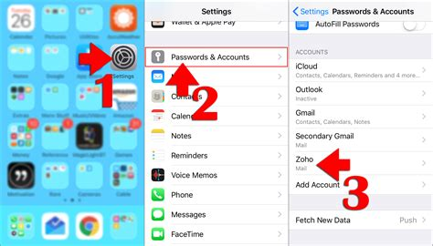 delete  email account   iphone