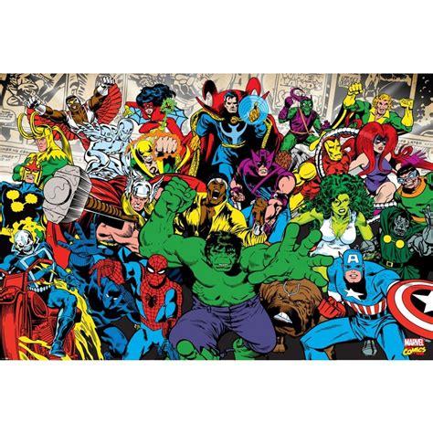 Marvel Superhero Wall Stickers 1 wall marvel avengers hulk ironman wallpaper mural 1 58m
