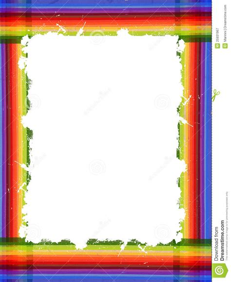 color frame colorful vintage rainbow frame with place for text