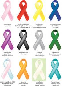 ribbon color for cancer cancer ribbon colors