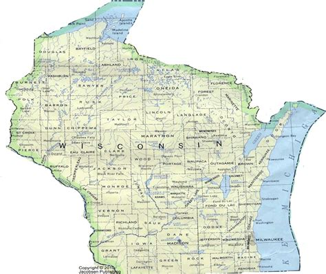 wisconsin state map wi shaded relief map fullscreen