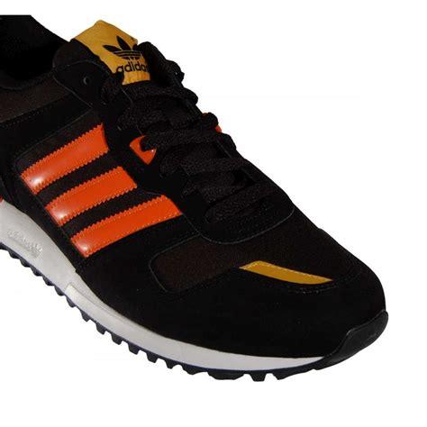 adidas originals zx700 black orange mens shoes from