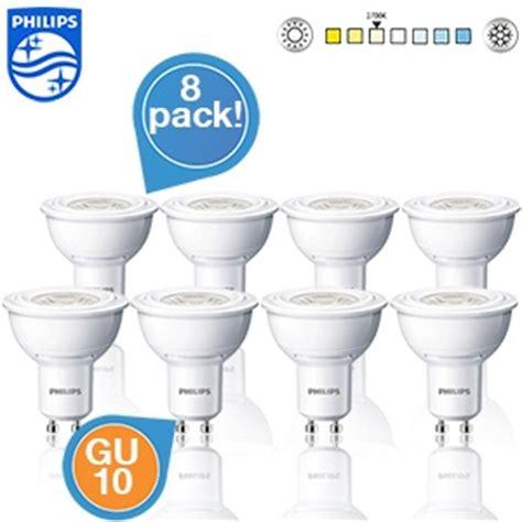 philips led len gu10 3 watt 8 pack philips led spotlen gu10 fitting 2700k 3