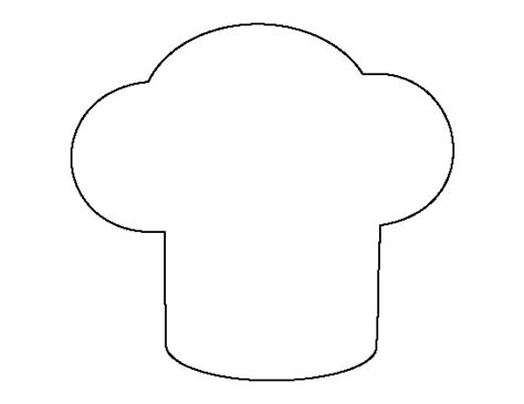 coloring page of a chef hat chef hat pattern use the printable outline for crafts