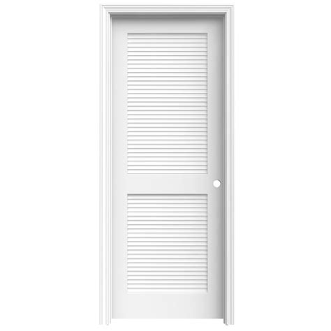 Interior Louvered Doors Lowes Shop Reliabilt Primed Prehung Solid Louver Pine Interior Door Common 24 In X 80 In