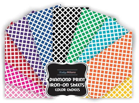 printing on iron on vinyl diamond print iron on vinyl sheets select color potty