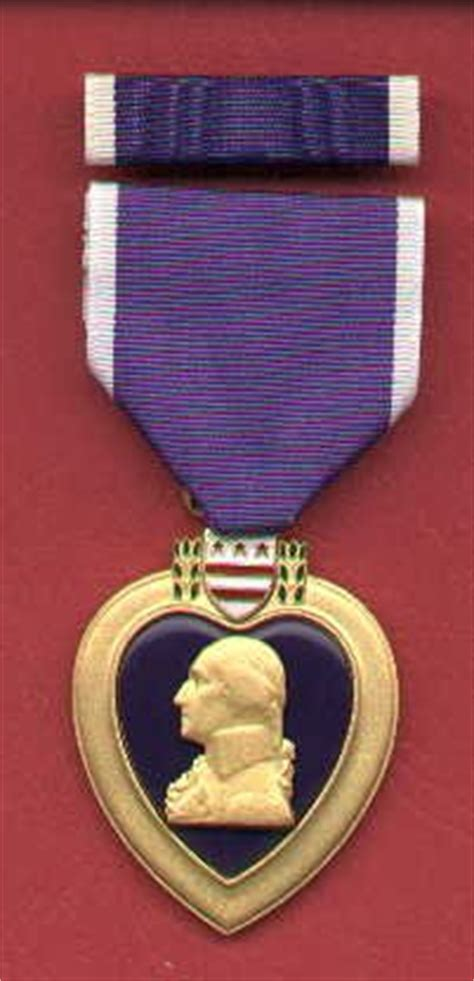 purple heart medal  ribbon bar