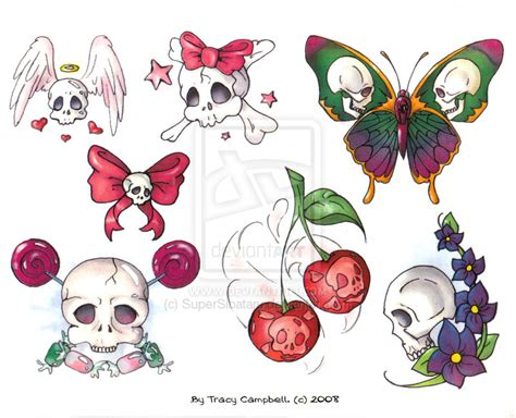 cherry skull tattoo designs design pictures by helen lassiter