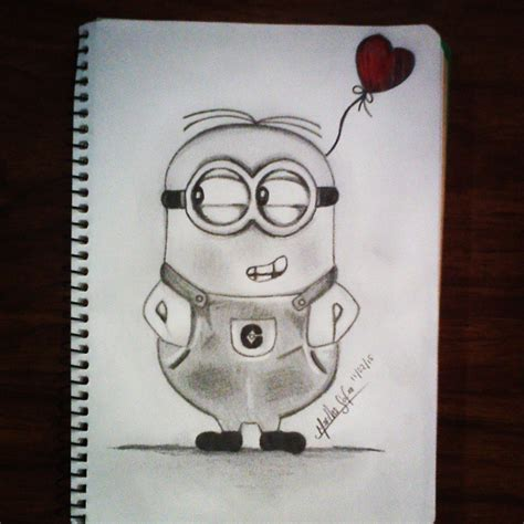 imagenes de minions a lapiz blanco negro love on instagram
