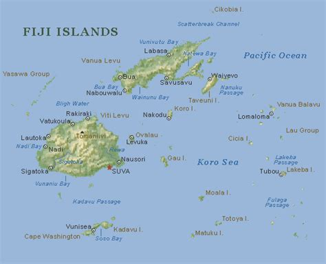 fiji islands map fiji map