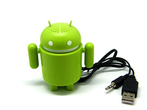 Speaker Mini Android usb android robot speakers for latop tablet pc mid mini bug cell tv audio electronics