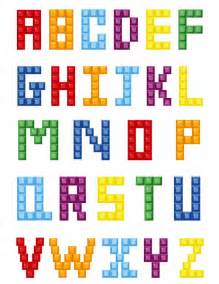 colorful block alphabet free vector graphics