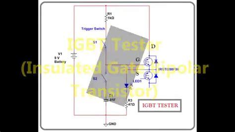 bipolar test transistor how to test igbt module