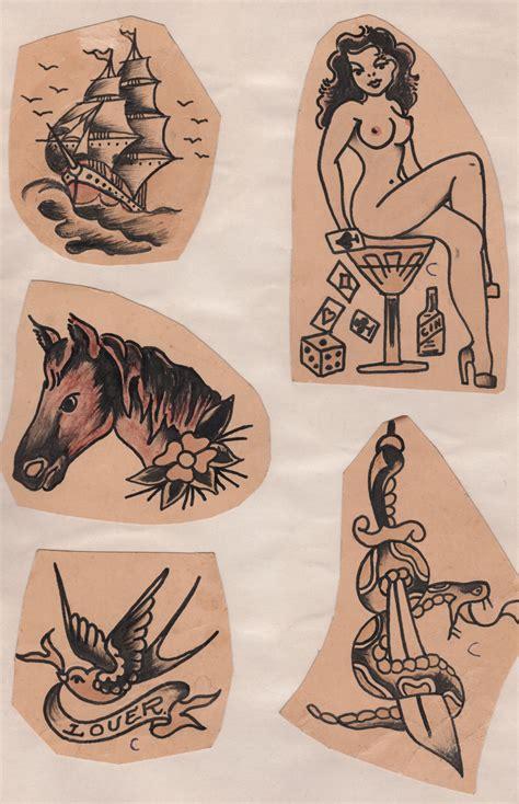 1940s tattoo designs flash 1940s metallic tattoos
